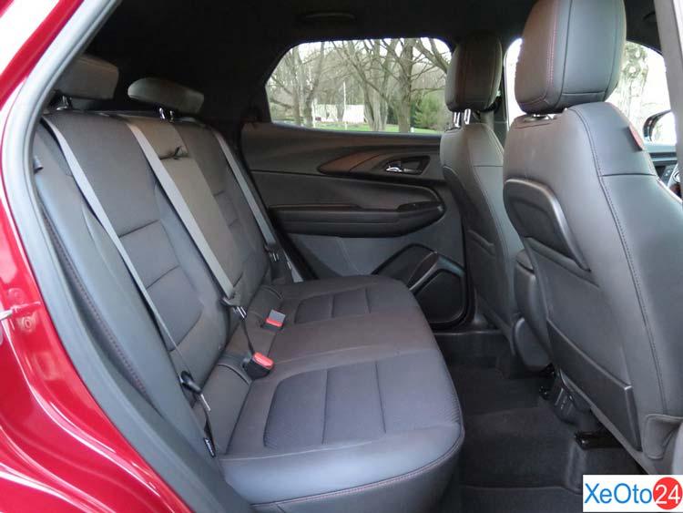 Hàng ghế hành khách của Chevrolet Trailblazer 2021