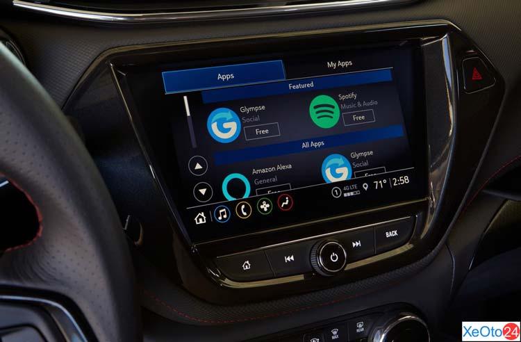 Màn hình tiêu chuẩn của Chevrolet Trailblazer 2021