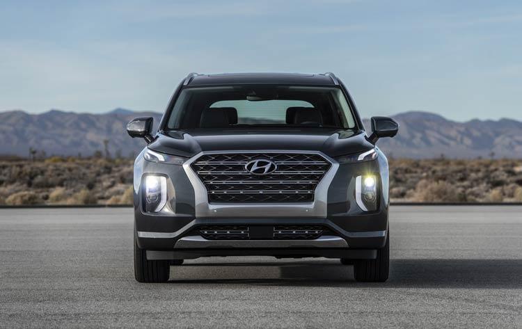 Phần đầu xe Hyundai Palisade 2021