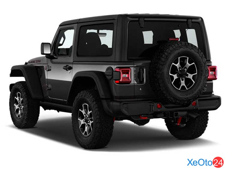 Phần đuôi xe Jeep Wrangler 2021